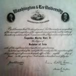 W&L diploma